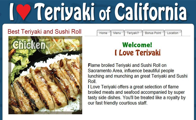 Fire Extinguisher and Kitchen Suppression System Inspection & Certification Service Customer Review By Review by Sam, Owner of I Love Teriyaki, Roseville, CA 95661.
