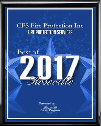 Best of 2016 Award for Fire Protection Services in Roseville, California for CFS Fire Protection, Inc.